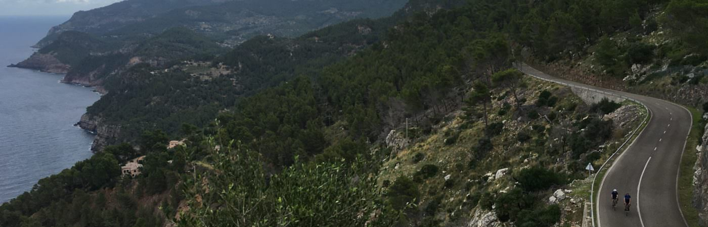 Incredible Cyclists view of the mountains in Majorca