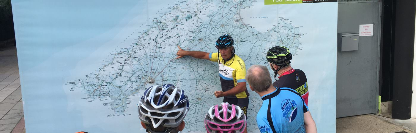 Sunvelo Instructor showing a route on a Majorcan Map